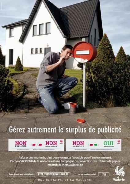 Stop pub affiche
