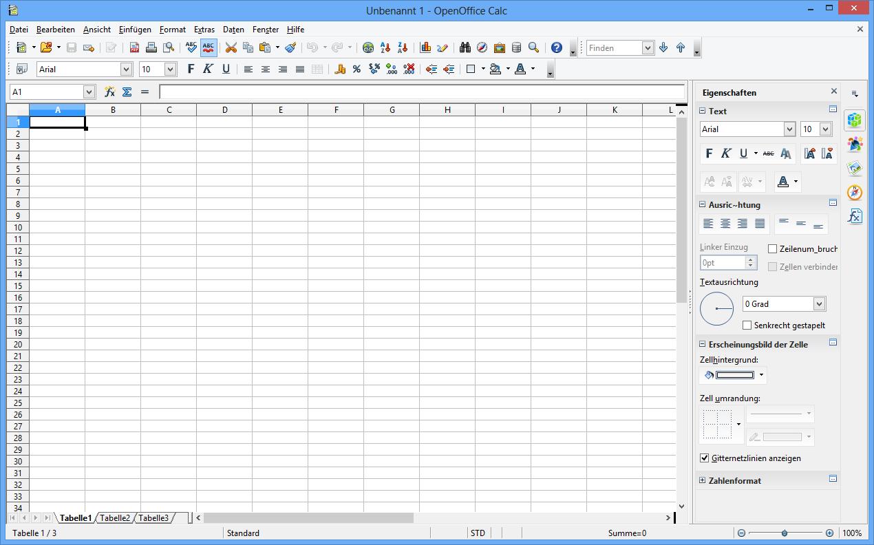 OpenOffice Calc 4.0